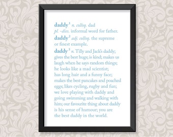Daddy Definition (A4) personalised print (Father's Day)