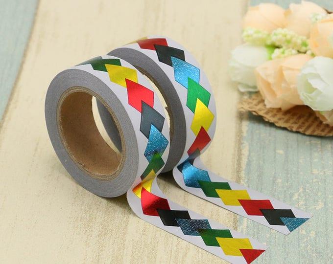 Foil Washi Tape - Foiled  Washi Tape -  washi Tape - Paper Tape - Planner Washi Tape - Washi - Decorative Tape - foiled geometric washi tape