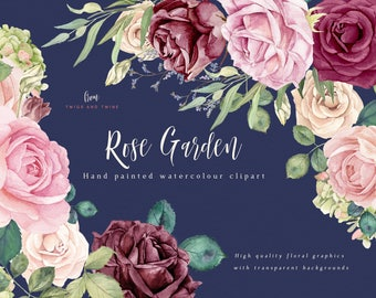 Flower Clipart - Rose Garden