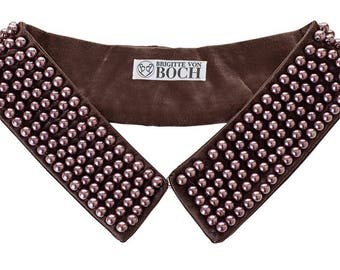 Ballykelly Pearl Collar Brown