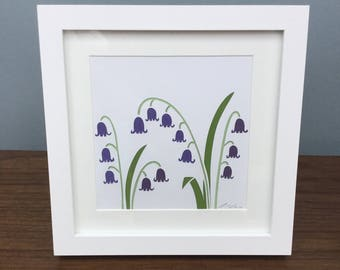 Bluebells / Framed Art / Gardeners gift / Birthday Present / Mother's Day gift.
