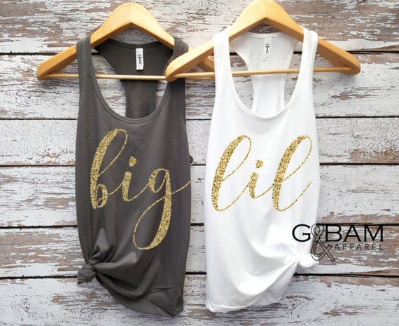 CUSTOM TANKS!  Big tank //  Lil Tank //  Big & Lil Tanks // Sorority Tanks //