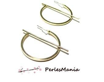 1 pair of hoops bar HORIZONTALE4 0 by 35mm metal dore S1188824