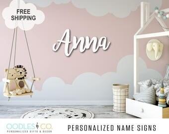 Kids Room Sign | Name Sign for Kids | Name Sign Wood | Nursery Name Sign |Name Sign for Girl | Name Sign for Boy |  Kids Room Decor | DS10