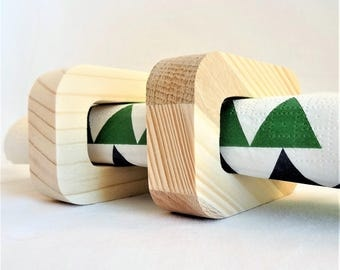 """ROUND NAPKINS in wood, spruce, multi-bois, Douglas fir or natural Robinia """"RECTANGLE"""", table decoration for any event (wedding..),"""