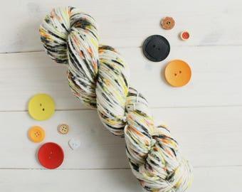 Revenge - Pirates of the Caribbean themed hand dyed yarn - aran/worsted weight-100g skein - superwash merino wool
