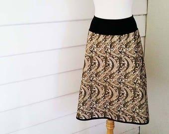 Womens Aline Skirt Silver Aline Skirt Made to Measure Skirts with Pockets Plus size Skirt Australian Made High Waisted Skirt Flare Mod Skirt