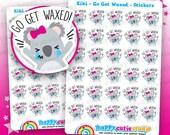 30 Cute Kiki the Koala Go Get Waxed Planner Stickers, Filofax, Erin Condren, Happy Planner, Kawaii, Cute Sticker, UK