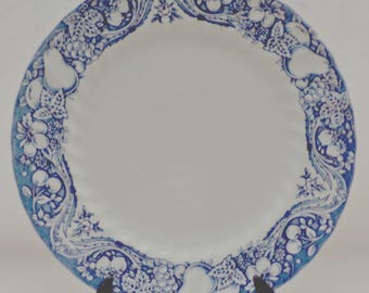 Vintage dinner plate, Blue and White, The Georgian Collection, CHURCHILL, English tableware, Made in England, vintage plates, dinner plates