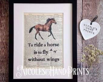 Horse riding etsy gift for horse lover horse print horse riding equestrian decor horse lover yadclub Choice Image