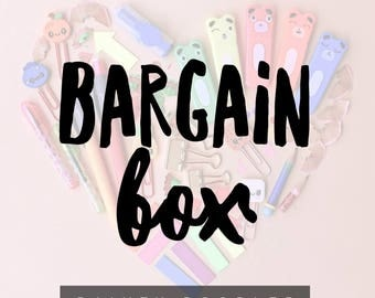 Bargain Box • Mystery Box • Novelty Stationery • Gifts for her • Goody Bag • Lucky Dip • Treatbox • Party Bag • Back to School