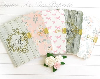 Scalloped Edge Planner Insert Covers/Dashboard for Traveler's Notebooks- available in different sizes