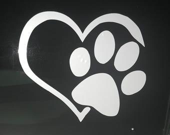 Heart Paw Vinyl