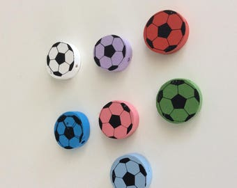 7 wood ball bead. size is 20mm for pacifier clip