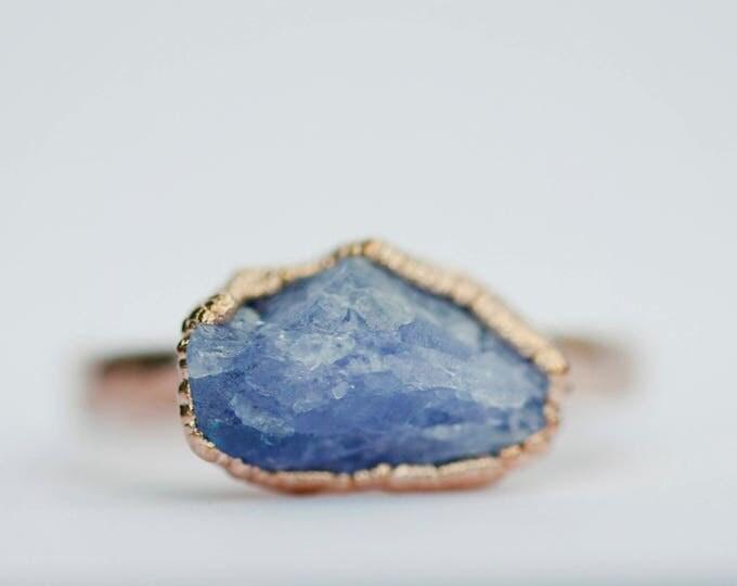 Rose Gold Tanzanite Ring // December Birthstone