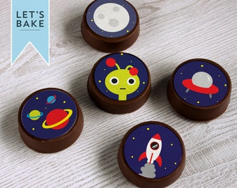 Space Chocolate covered Oreos x6
