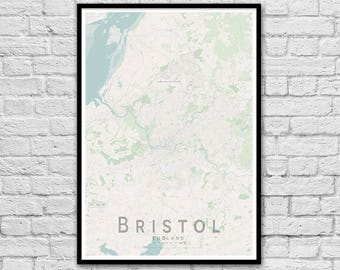 BRISTOL Map Print | England City Map Print | Wall Art Poster | Wall decor | A3 A2