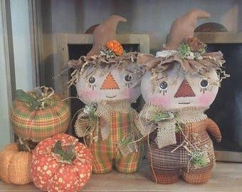 Primitive Scarecrow Stumpkin Dolls