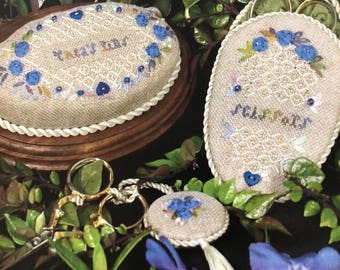 Lady Mary's Pincushion, Scissor Case, and Scissor Fob Cross Stitch Pattern