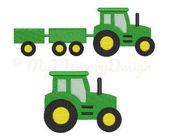 Tractor Embroidery Design - Boy Embroidery Pattern - Machine embroidery digital dowload file - INSTANT DOWNLOAD 7 SIZES