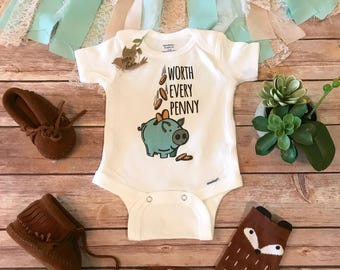 IVF Onesie®, Worth the Wait, Miracle Baby, IVF baby Onesie,Pregnancy Reveal,Pregnancy Announcement, IVF Gift,Worth Every Penny Baby Bodysuit