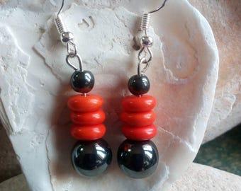 964 - hematite earrings.