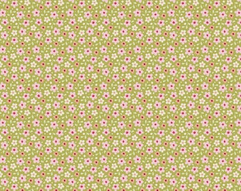 Tilda Fabric Autumn Trees Celia On Green TD481042