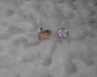 Amethyst carved elephant pendant