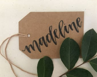 gift tags, personalized gift tags, name tags, calligraphy name tags, customized gift tags, bridesmaids gift tags