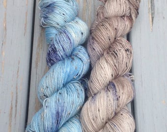 May B. & All the Birds in the Sky Set - Hand dyed yarn