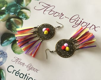 Trendy 2017 raffia earrings elegant summer tassels