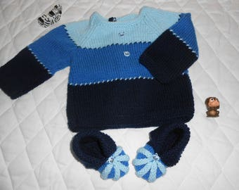 set jacket and booties size 3 months