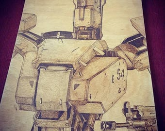 Bastion Overwatch Pyrography