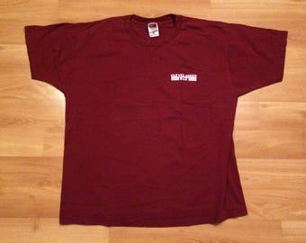 XL 90's Clevelander Bar South Beach Miami men's vintage T shirt maroon burgundy white Fruit of the Loom Florida 1990's