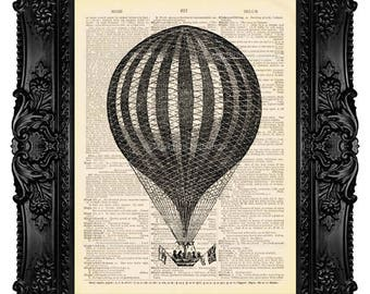 Balloon Print, Hot Balloon Print, Hot Air Balloon, Mens Gift, Gifts For Husband, Boyfriend Gift Print, Girlfriend, Boy Birthday Poster 69
