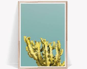 Cactus Print,Cactus,Artwork,Succulent Print,Cactus Photo,Cactus Art,Desert Print,Yellow,Large Wall Art,Digital Prints,Cactus Photography