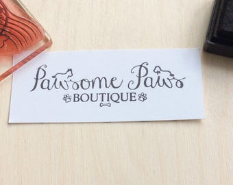 Small rubber stamp - 1 x 2  Inch - business branding stamp - custom packaging for your small business - personalised stamp