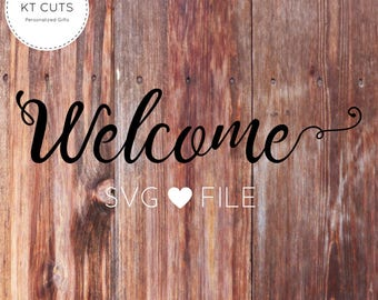 Welcome SVG - Welcome cut file - Welcome Script - Welcome Hand written