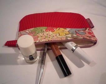 Makeup mixing fabric Liberty and Frou frou - gift idea