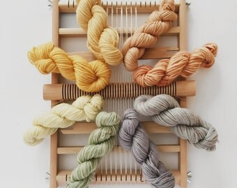 Small weaving kit, Tapestry loom and yarn kit, Frame loom with a heddle bar, Travel loom kit, Yarn kit, Beginners kit, Tapestry set, Weaving