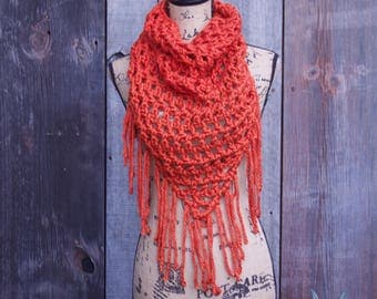 Orange Triangle Cowl