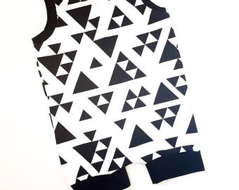 CLEARANCE * trizangles with black cuffs. FINAL SALE