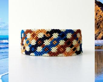 Woven Friendship Bracelet Zigzag Chains Squares women men unisex macrame gift trend tribal incan mexican aztec mayan boho - Q'enqo Bracelets