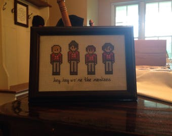 Monkees Cross Stitch