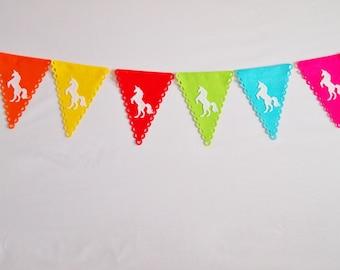 Unicorn Bunting, Unicorn Decor, Custom Banner, Party Bunting, Personalised Bunting, Party Decorations, First Birthday, Nursery Decor