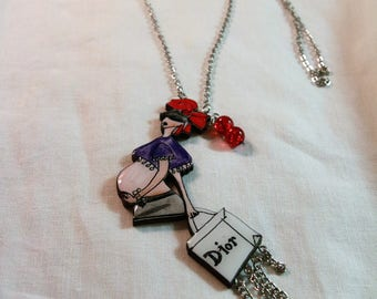 Baby Line Necklace on board