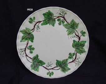 "Blue Ridge Plate DEWBERRY 10.25"" Dinner Serving Hand Painted Ivy Dinnerware SPI Colonial Green Leaves (B33) 9928"