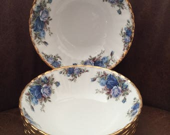 Set of 6 Royal Albert 2nd Quality Moonlight Rose Cereal/Dessert Dishes