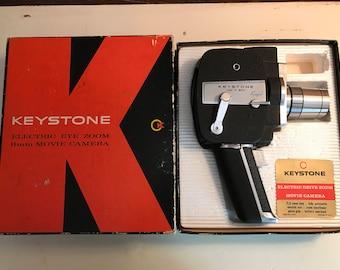 1963 Mid Century Keystone 8mm Movie Camera w/Oriiginal Box