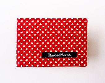 Star Travel Card Holder, red